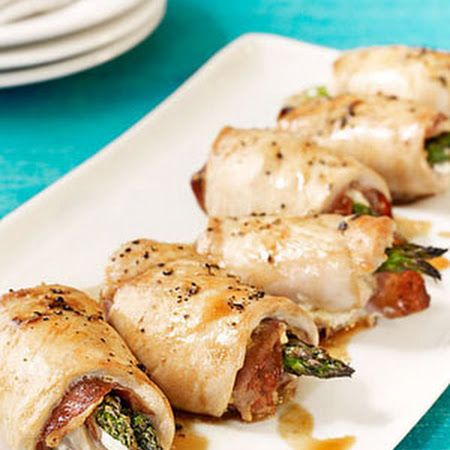The asparagus really makes this chicken roulade recipe special.--so try it out on a special person tonight!