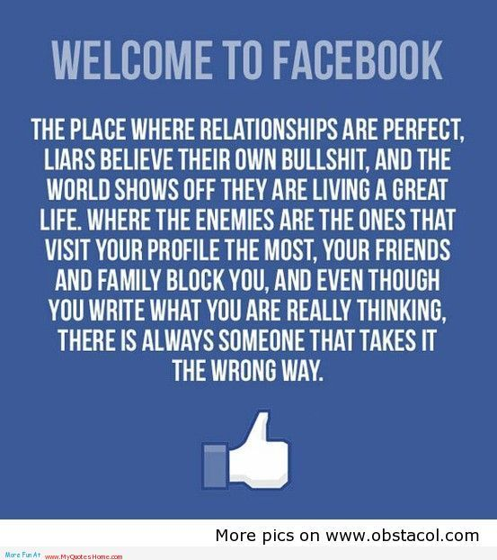 sooooo trueeee!! I am no longer a big fan of facebook and hardly enjoy its company. haha