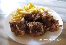 Συνταγή: Κατσικάκι κοκκινιστό με πατάτες τηγανητές