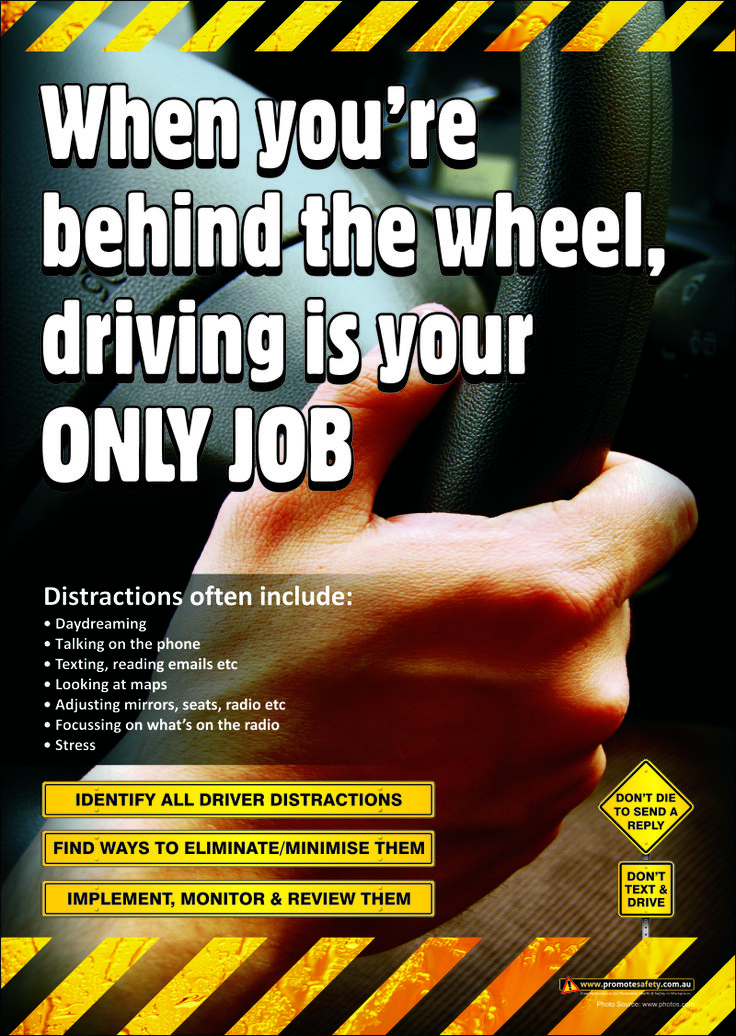 driving safety and distractions Distracted driving is the act of driving while engaged in other activities that take the driver's attention away from the road all distractions compromise the safety.