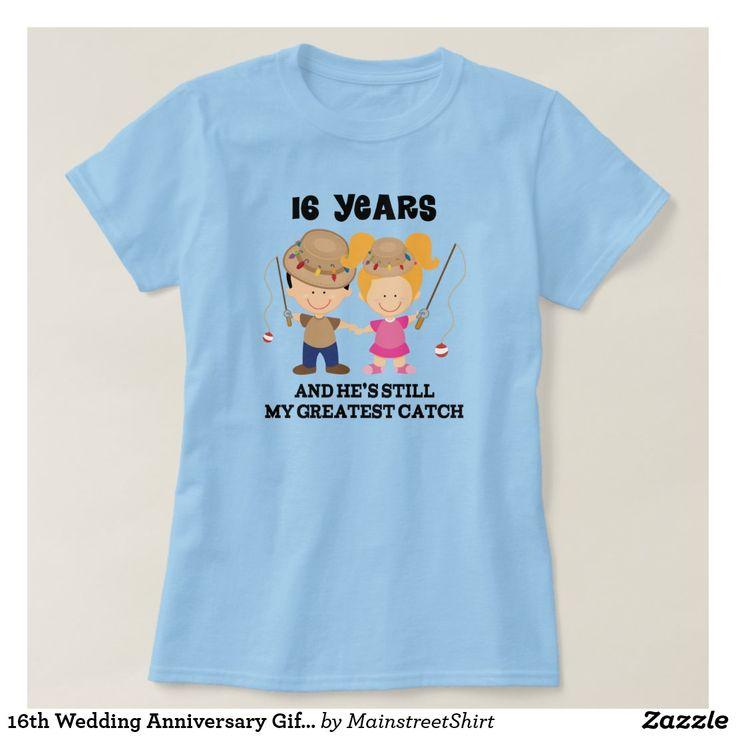 16th wedding anniversary gift for her tshirt