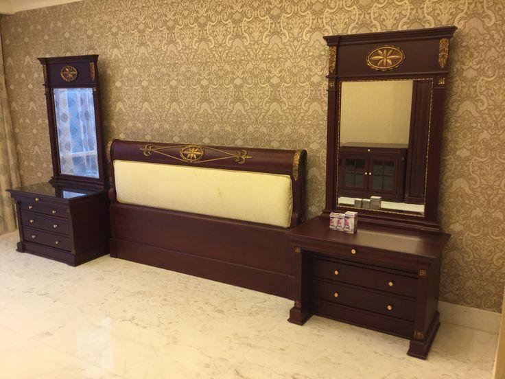 Classic Master Bed at Botanica Apartment Jakarta by Simple Luxury Interior Surabaya, Indonesia