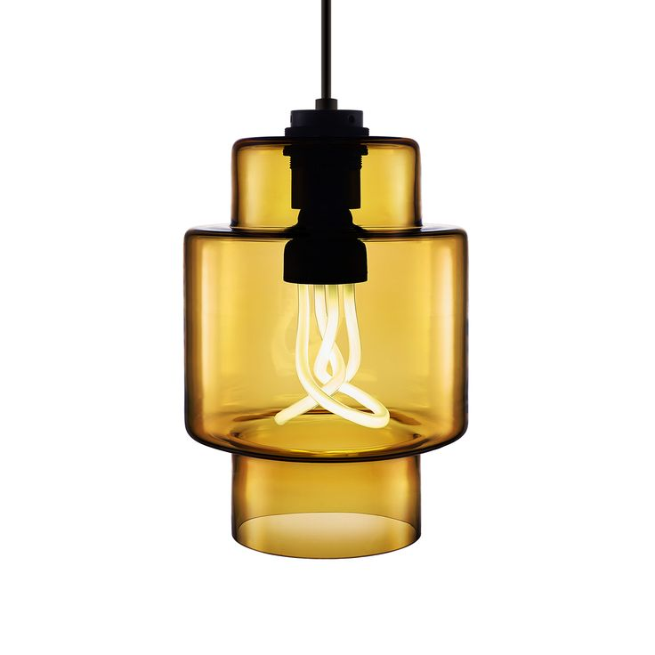 @nichemodern U0027s Axia Shade In Amber (shown With The Plumen 001 Light Bulb