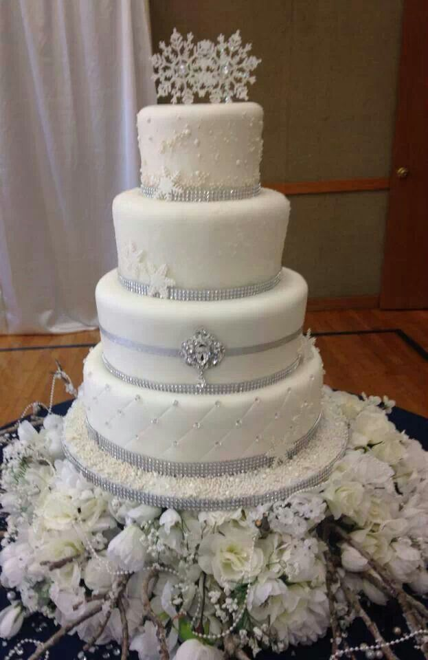 Winter Wonderland wedding cake ♥