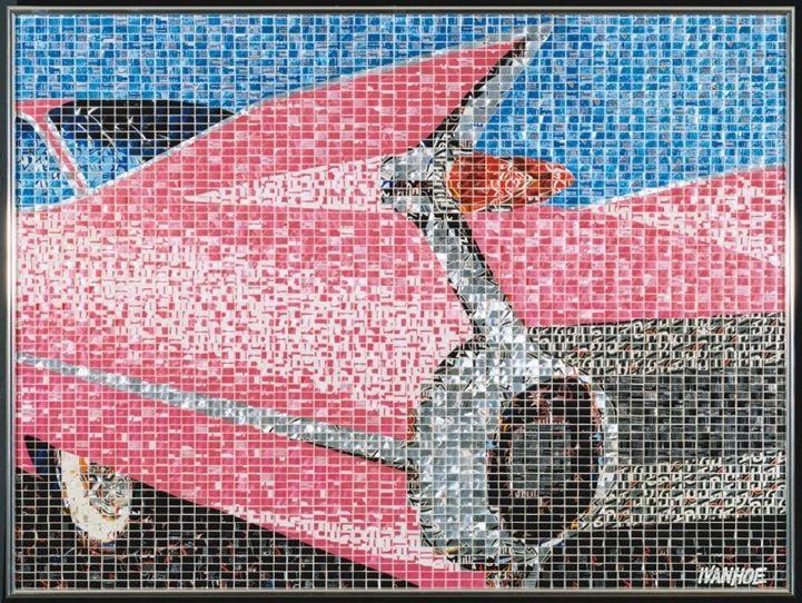 Recycled Aluminum Can Mosaics