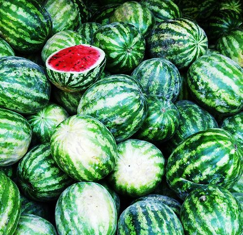 .Watermelon is always a great summer snack. This delicious treat is low in calories and is packed with Vitamin C and A!