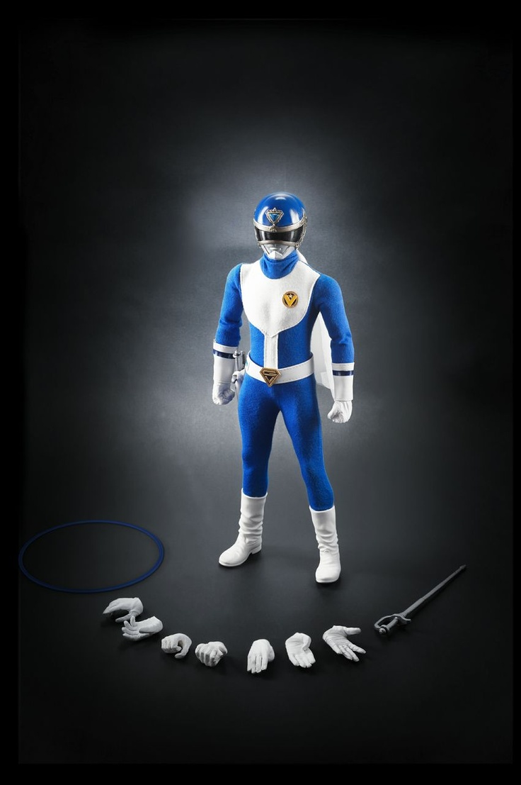 "Dai Sentai Goggle V - Goggle Blue, 12"" scale, limited 85 piece worldwide, comes with serial number & certificate."