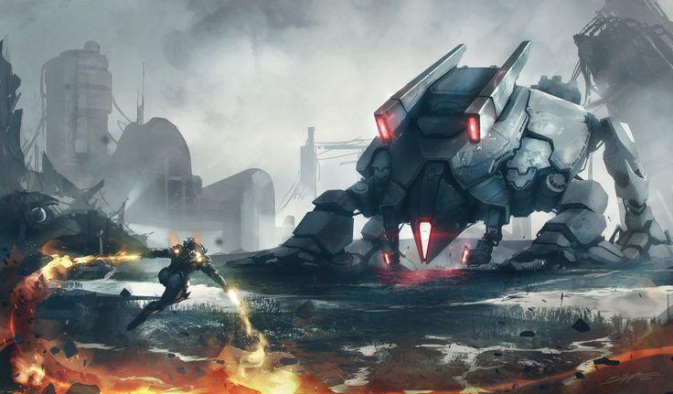 Sci Fi Battle  Robot Wallpaper