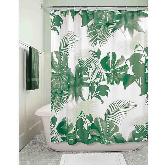 Idesign Watercolor Fern Fabric Shower Curtain Bed Bath Beyond
