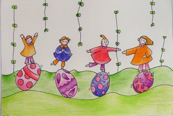 Easter illustration. Original draw. Illustration for by RossoViola, €16.00