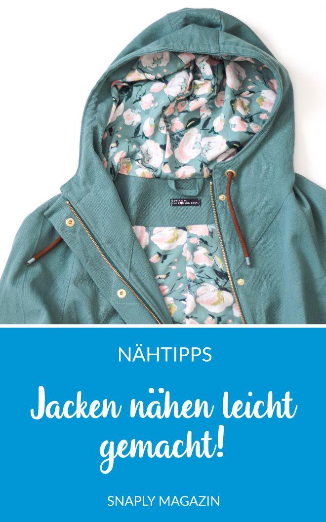 Jacken nähen leicht gemacht – So funktioniert's – Nähen mit Snaply