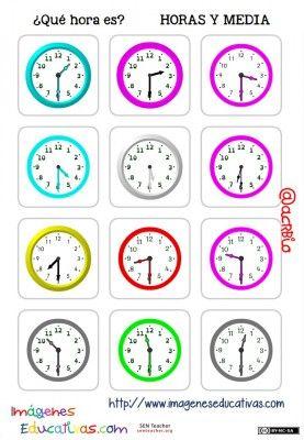 fichas de relojes analógicos. (6)