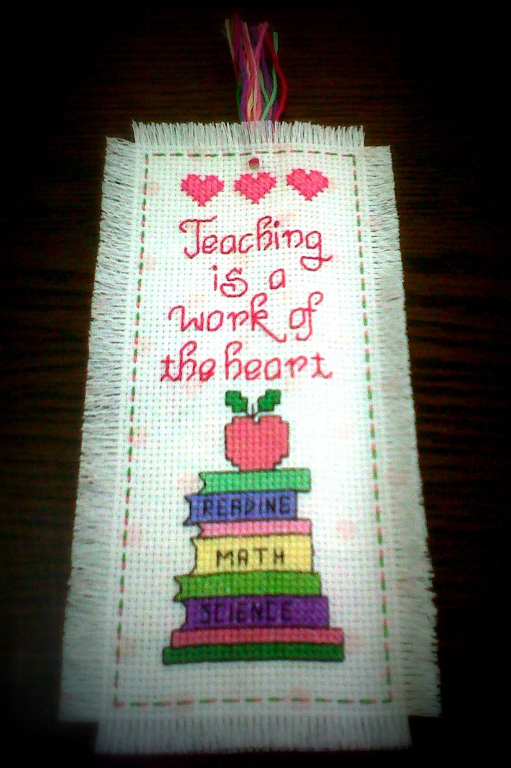 cross stitch patterns for Teacher bookmarks - Google Search