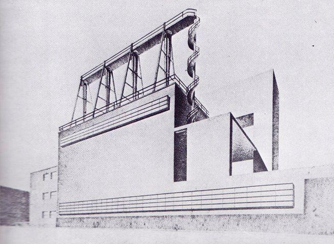 Centrale termica della stazione ferroviaria di Firenze, Angiolo Mazzoni, 1930
