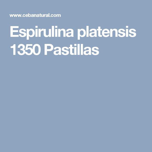 Espirulina platensis 1350 Pastillas