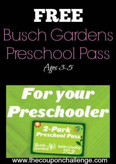 Free Busch Gardens Preschool Pass Is Back For 2014   Kids Ages Get In FREE  To Both Busch Gardens Williamsburg AND Water Country USA!