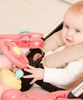Lights and Sounds Buggy Driver - Pink | pushchair & travel toys | Mothercare