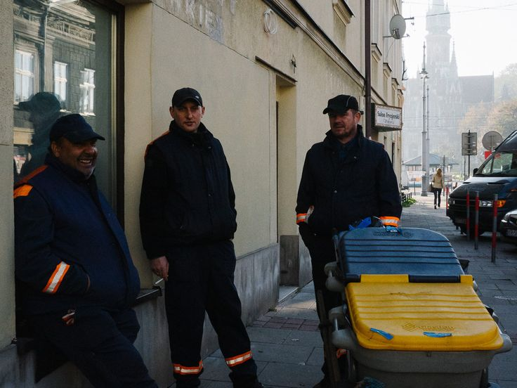 Street Cleaners in Podgorze