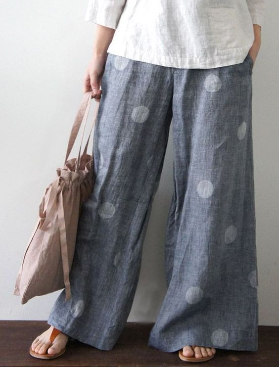 Wider than Cutting Line Designs 'One Seam Pants Pattern' but a great look for Summer: