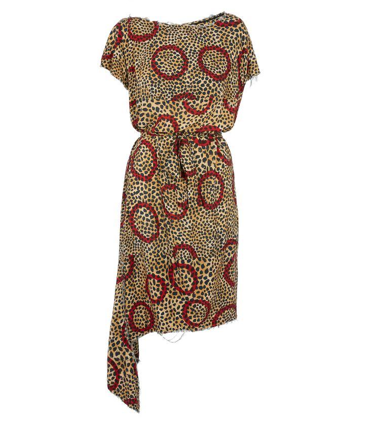 VIVIENNE WESTWOOD Leopard Balloon Dress. #viviennewestwood #cloth #