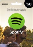 Spotify - $60 Spotify Premium Music Gift Card