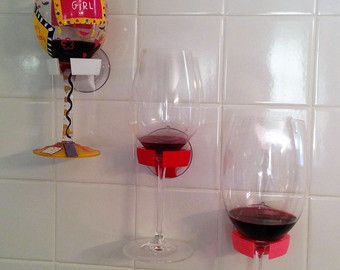 Bathtub shower wine glass holder  pick your color  3d