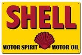 Motor Sprit Motor Oil Shell Metal Sign 24x16 Inches