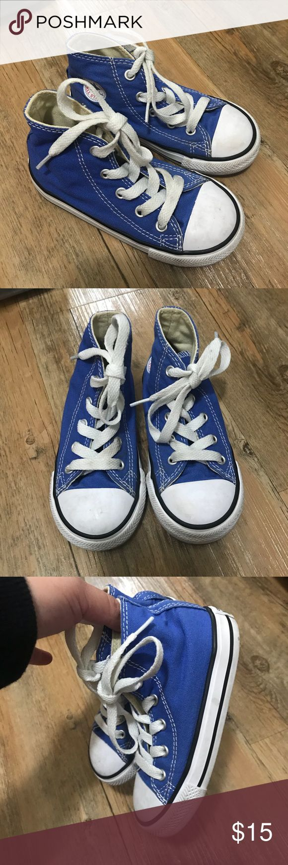 Size 8c kid converse high tops Worn once to Disneyland need to be wiped down Converse Shoes Sneakers