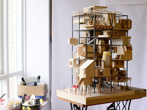 Created by a team of four young, Danish architects, 'a model' is a sample of how dreamy urban living could be! See more in The Loop #9 – BleepBleeps