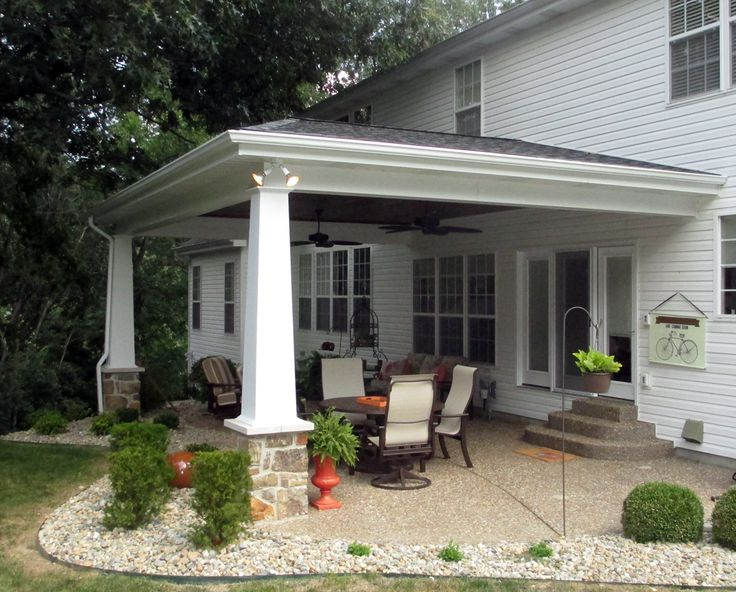 This Attractive Covered Patio Is Located In Clarkson Valley. It Features A  Cedar Ceiling With