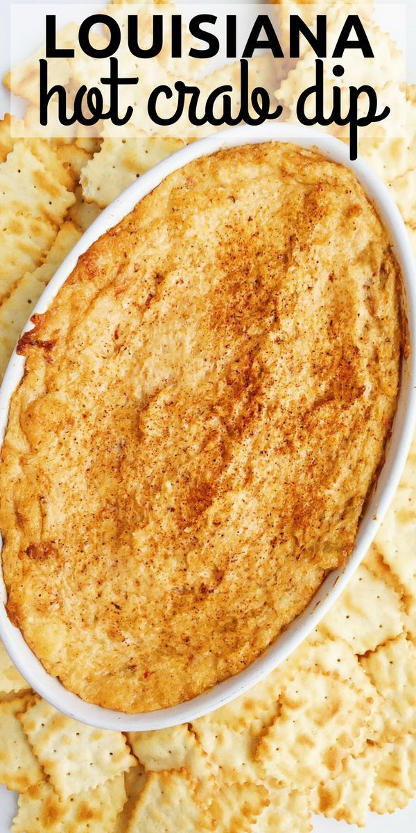 Louisiana Hot Crab Dip is warm. A little spicy. Cheesy. And so, so good. Hello, Creole seasonings.