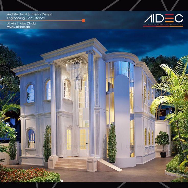 Project: Proposed Residential Villa . . . . . . . #aidec #architecture #architect #design #archporn #uae #abudhabi #alain #building #landscape #sketch #villa #house #white #classic #model #arab #3d #render