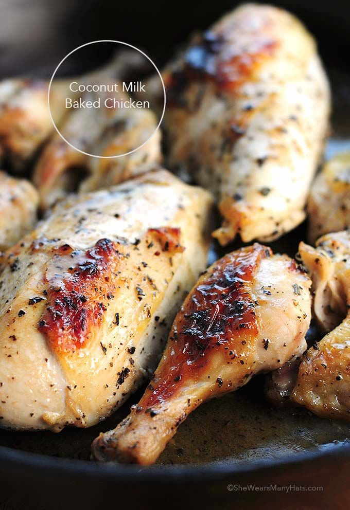 This Coconut Milk Baked Chicken Recipe has quickly become part of our regular weekly menu rotation.