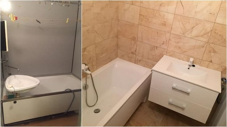 Kúpeľňa pred a po rekonštrukcii.