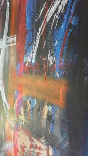"""""""Ebens ' palette"""" Abstract acrylic on canvas by Nika"""