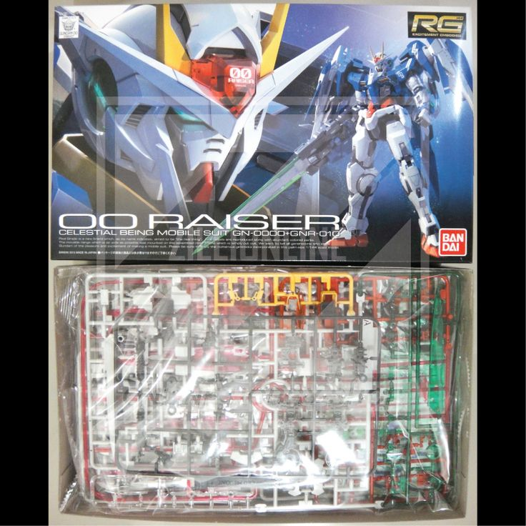 [MODEL-KIT] RG 1/144 - 0000+GNR-010 00-RAISER GUNDAM. Item Size/Weight: 31 x 19.1 x 8.3 cm / 415g*. (*ITEM SIZE & WEIGHT BEFORE PACKAGED). Condition: MINT / NEW & SEALED RUNNER. Made by BANDAI.