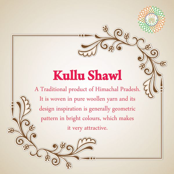 Kullu Shawl is woven in pure woollen yarn and its geometric pattern design, makes it very attractive. #HandWoven #IndiaHandloomBrand
