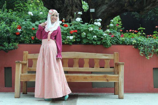 Wardrobe Una, Inspirasi Cantik, All Scarf Model Wahidah Oktavia Location Garden by the Bay, Singapore Photographer Intan Muthia MUA Sania by Wardah Cosmetics