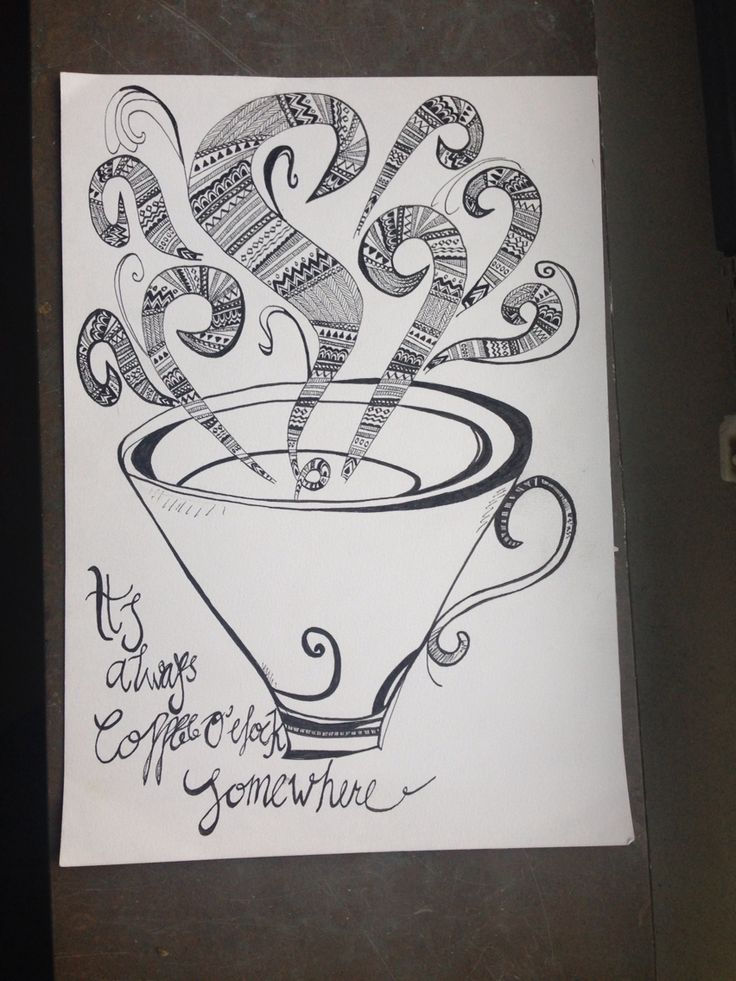 Coffe o'clock #doodling #drawing #coffee