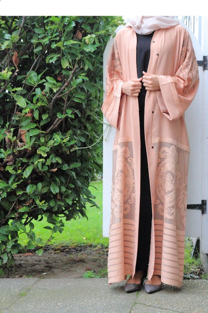 Dusty Pink Abaya from Abayabuth