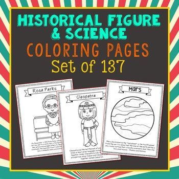 historical figure biography coloring pages crafts or posters informational text