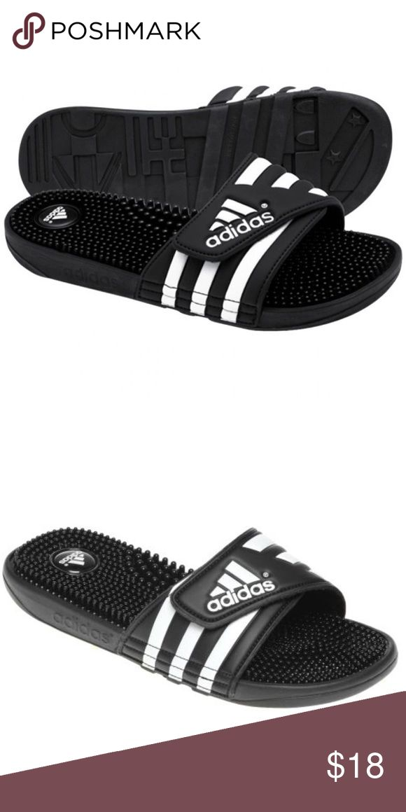 ADIDAS adissage slides Like new only worn once. They are perfectly airy, comfy and on trend. They are a youth size 5 but fit a women's 6 1/2. Adidas Shoes Slippers