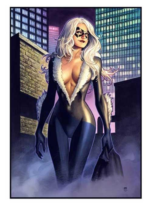 Black Cat commission / NYCC print by Jim Cheung (2010), in George H's Cheung, Jim - COMMISSIONS / SKETCHES Comic Art Gallery Room - 1241529