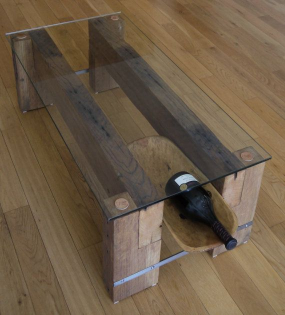Reclaimed Wood Coffee Table With Trencher Drawer. Modern Rustic Coffee Table. Handmade Coffee Table