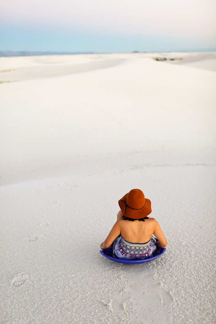 Sand Sledding at White Sands National Monument Las Cruces New Mexico USA // localadventurer.com