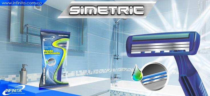Máquina para afeitar Simetric. Para una afeita sin irritación.