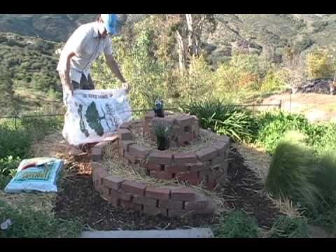 Building an Herb spiral garden
