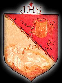 St. Therese's coat of arms. which she created and painted in 1896.