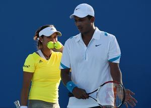 Indian tennis stars Sania Mirza and Mahesh Bhupathi have earned  themselves a shot at their second Grand Slam title together by breezing  into their maiden French Open mixed doubles final at the Roland Garros  in Paris.