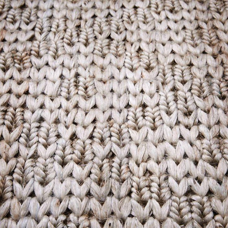 Barley Twist Jute Rug - Platinum